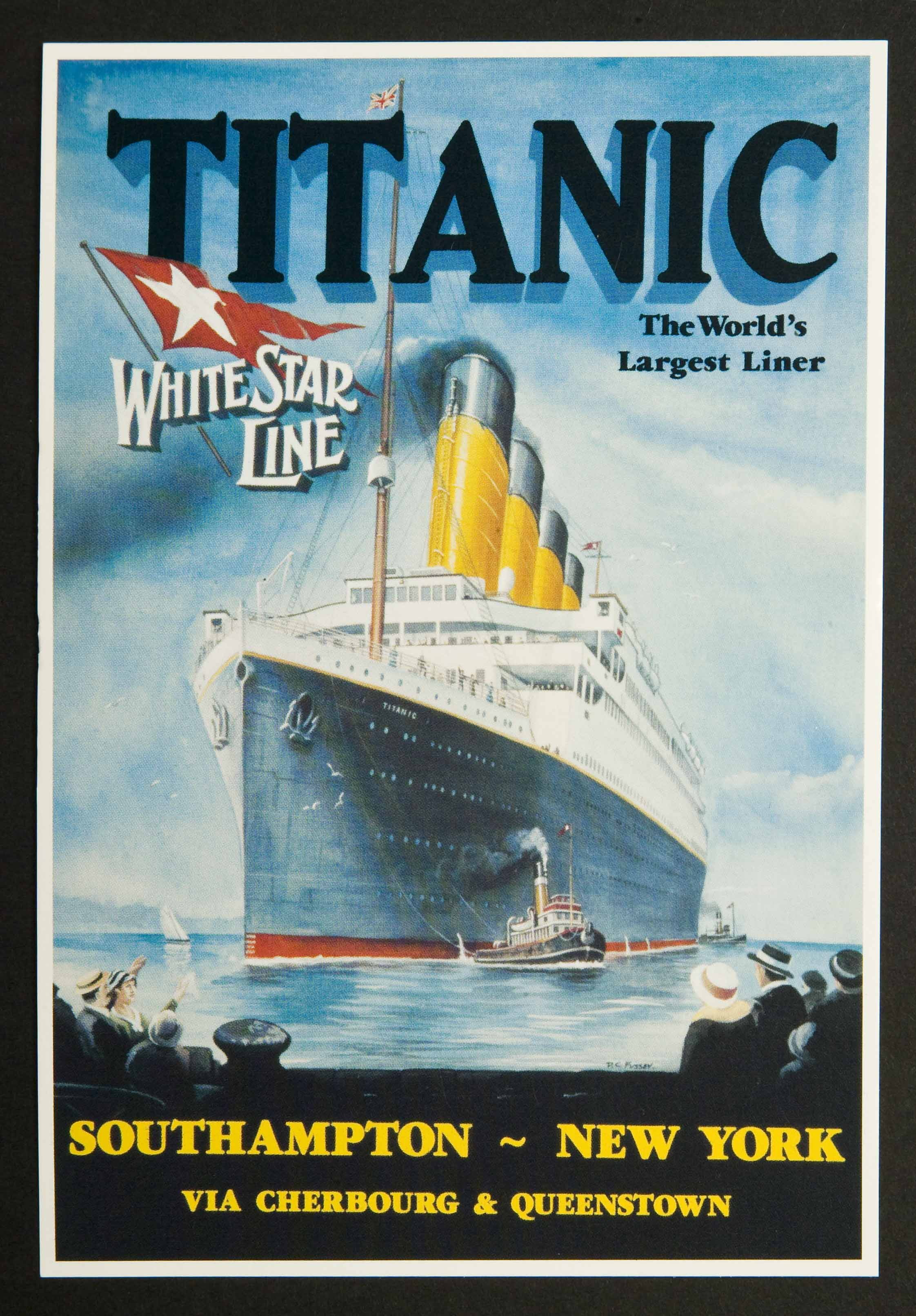 Titanic - The World's Largest Liner Postcards (6)